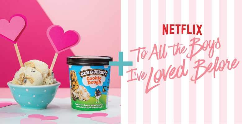Spojení Chocolate Chip Cookie Dough s To All The Boys I've Loved Before